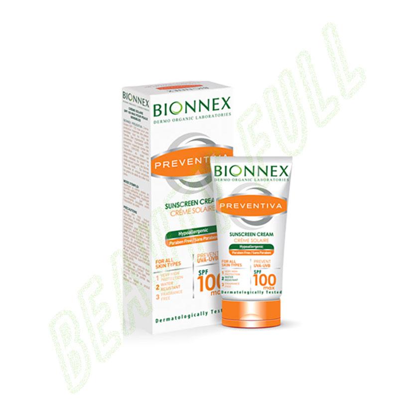 BionnexPreventiaCremeSolairePourPeauxSensiblesSpf100Max