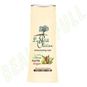 Shampooing-soin-aux-Huiles-d'Olive,-Karité-et-Argan---Cheveux-Secs-et-Abîmés---250-ml